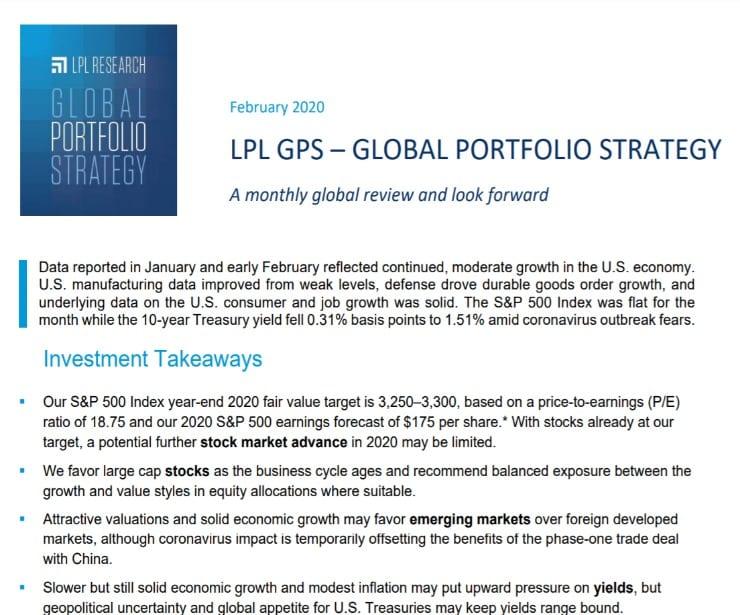 Global Portfolio Strategy   February 11, 2020