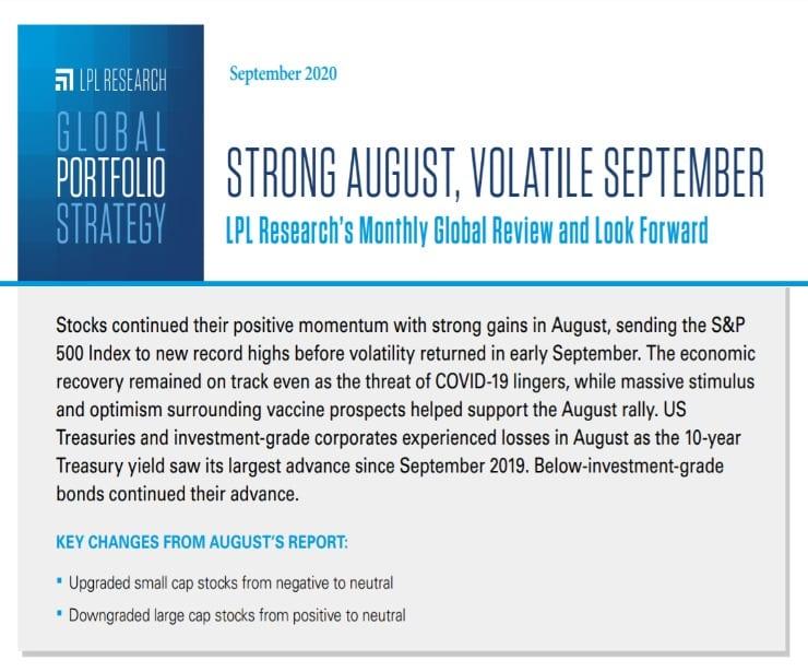 Global Portfolio Strategy   September 11, 2020
